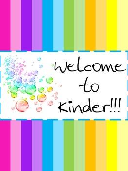 Welcome Sign For Classroom Door : welcome, classroom, Rainbow, Classroom, Welcome, Kensington's, Designs