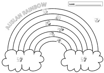 Rainbow Colouring Worksheet Auslan (Australian Sign) by