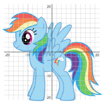 Rainbow Dash Mylittlepony Coordinate Graphing Picture 4 Quadrants