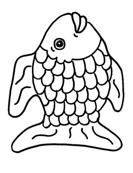 Rainbow Fish: Character Black Lines (Basic) by BigRedApple
