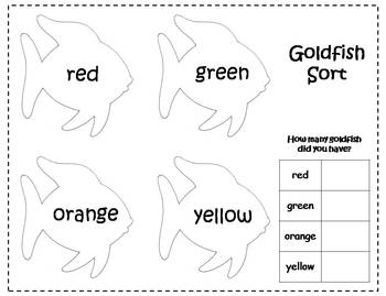 Rainbow Goldfish Cracker Sort and Graph {FREEBIE} by