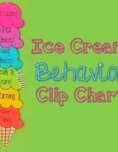 Rainbow ice cream behavior clip chart also by happyhill tpt rh teacherspayteachers