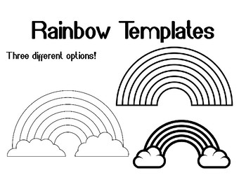 Rainbow Template for Art Project Rainbow Coloring Page