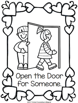 Random Acts of Kindness Coloring Book by School Counseling