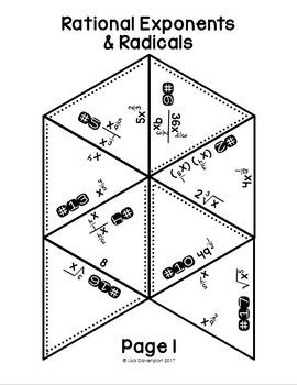 Radicals And Rational Exponents Algebra 2 Worksheet