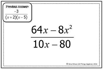 Rational Expressions Scavenger Hunt by All Things Algebra