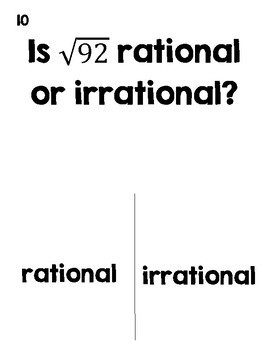 Rational or Irrational Numbers Halloween Activity (TRICK