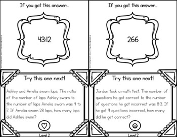Ratios Activities: Ratios Word Problems Task Cards (6.RP.1