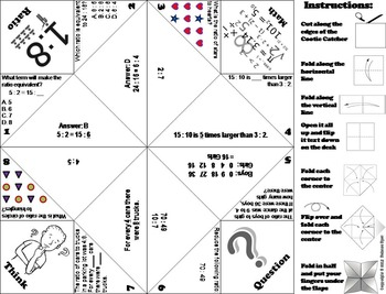 Ratios Practice Activity Game for 5th, 6th, 7th Grade by