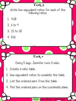 Ratios: Mathematical Tasks Equivalent Ratios, Ratio Tables