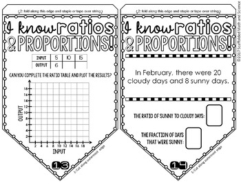 Ratios and Proportions Math Pennant Activity by Scaffolded