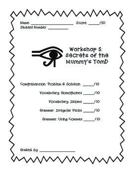 Read 180 Workshop 5 (Secrets of the Mummy's Tomb) Skills