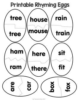 Rhyming Worksheets Activities Dr. Seuss Week Inspired