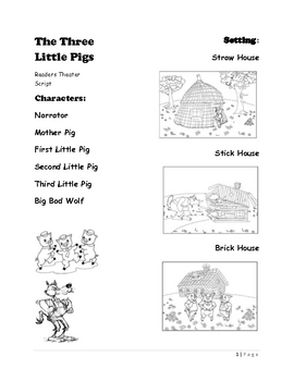 Readers Theater Script of The Three Little... by Mehitabel