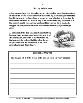 Reading Comprehension Folktales And Fables Common Core