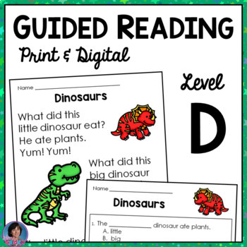 Guided Reading Comprehension Passages and Questions