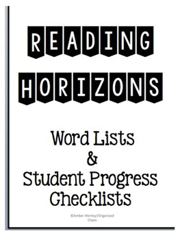 Reading Horizons Most Common Word Lists/Running Records