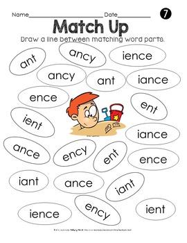 SUMMER READING Decoding Multisyllabic Words MATCHING WORD