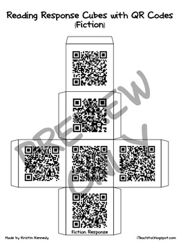 QR Code Reading Response Cubes {Fiction and Nonfiction