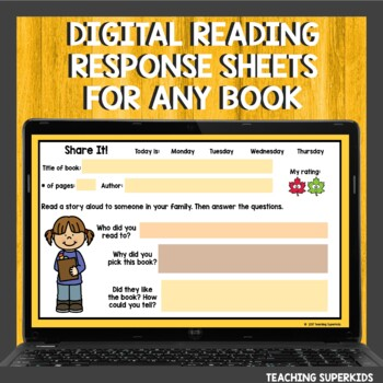 Reading Response Sheets for November by Teaching Superkids