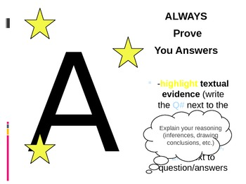 Reading Strategy Powerpoint for STAAR or other assessment