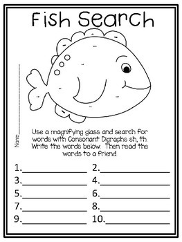 A Big Fish for Max, Centers and Printables For All Ability