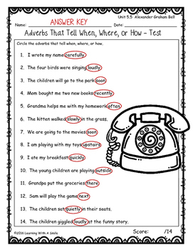 Reading Street FIRST GRADE GRAMMAR TESTS Unit 5 by
