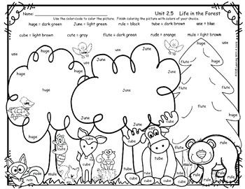 Reading Street FREEBIE First Grade Color By Word LIFE IN
