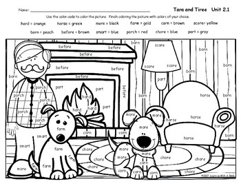 Reading Street FREEBIE Color By Word HENRY AND MUDGE Unit