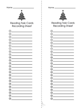 Christmas Reading Mixed Skills Task Cards by The Brighter
