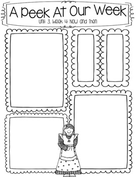 First Grade Wonders Editable Newsletters Units 1-6 and
