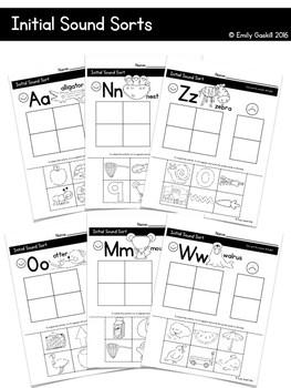 Reading Wonders Kindergarten Initial Sound Sorts Bundle (a