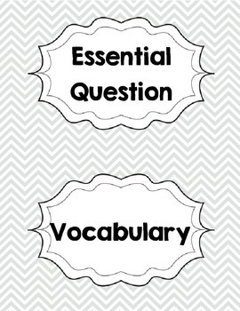Reading Wonders Kindergarten Focus Wall Labels by Mrs B's