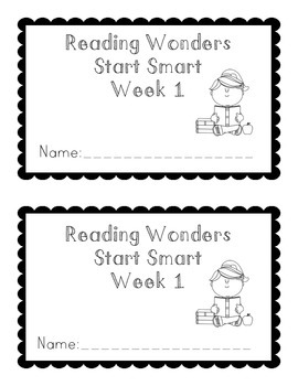 Reading Wonders Start Smart Booklet Grade 1 by Lauren St