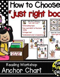 also reading workshop anchor chart how do  choose  just right book rh teacherspayteachers