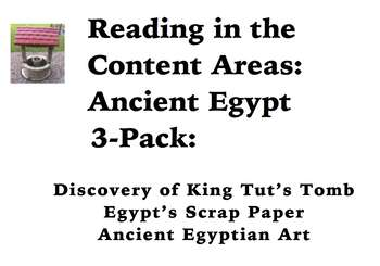 Reading in the Content Areas: Ancient Egypt 3-Pack by
