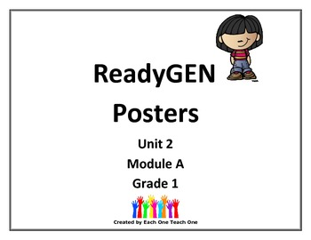 ReadyGEN First Grade Posters Unit 2 Module A by The Chalk