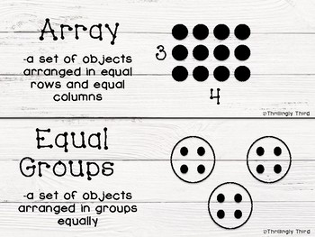 Ready Math 3rd Grade Vocabulary Word Wall Cards- All Units