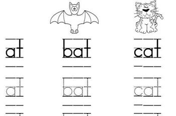 ReadyGEN Kindergarten Phonics Remediation worksheet (At