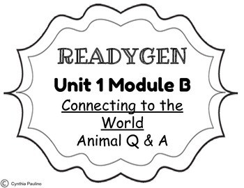 2014-2015 ReadyGen Unit 1 Module B Concept Board by Miss P