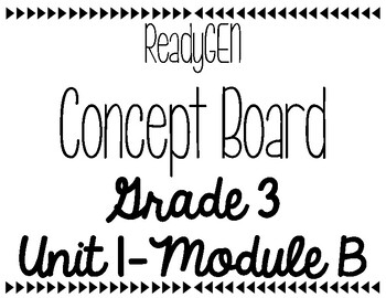 ReadyGen Concept Board Grade 3, Unit1, Module B by Pretty