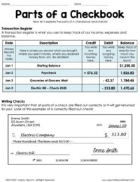Real World Math Checkbook Lesson and Activity by Lindsay