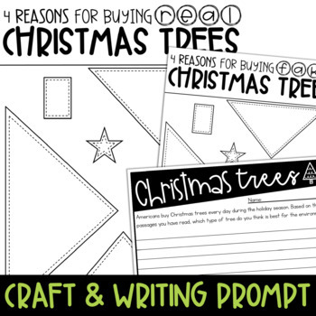 Real vs. Fake Christmas Trees {Paired Passages, Writing