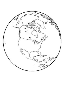 Realistic Earth Template North America Center Earth Page