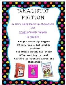 Realistic fiction anchor chart also poster teaching resources teachers pay rh teacherspayteachers