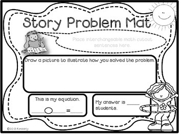 Recessed Themed Story Problem Mats (Addition and