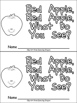 Red Apple, What Do You See Emergent Reader for