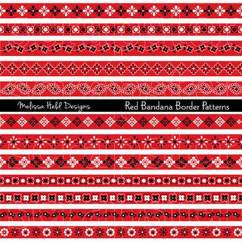 red bandana border patterns