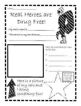 Red Ribbon Week: Real Heroes are Drug Free by Stilson's