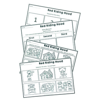 Fairy Tale Activity Pack Red Riding Hood Reading, Writing